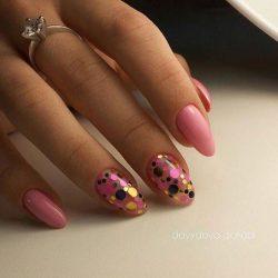 Pink dress nails photo