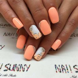 Two-color summer nails photo