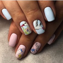 Nails for young mothers photo