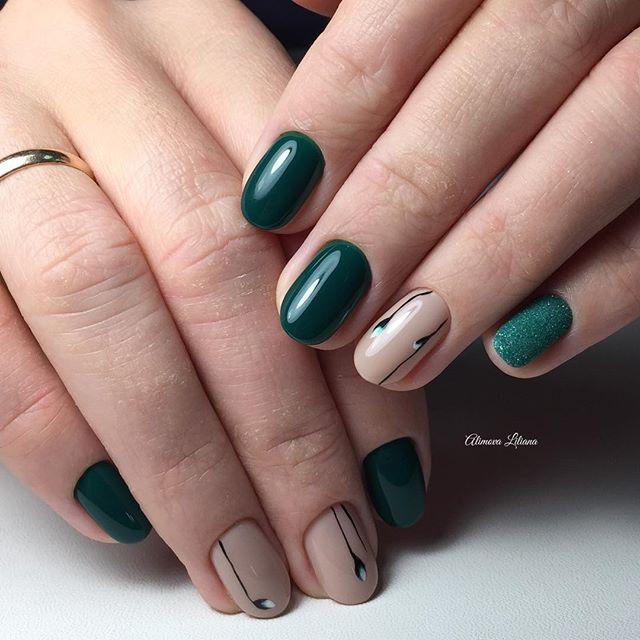 Green short nails