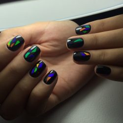 Dark autumn nails photo