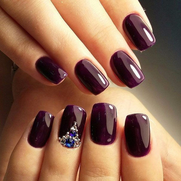 Dark short nails - Nail Art #2648 - Best Nail Art Designs Gallery BestArtNails.com