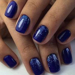 Nail polish for blue dress photo