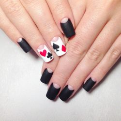 Black moon nails photo
