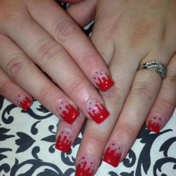 Halloween french nails photo