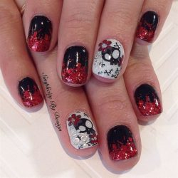 Bloody nail art photo