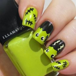 Nails with eyes photo