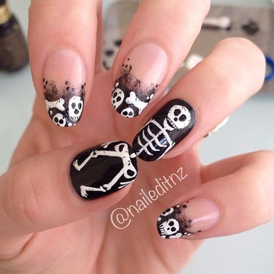 Nails with bones