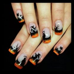 Halloween nails photo