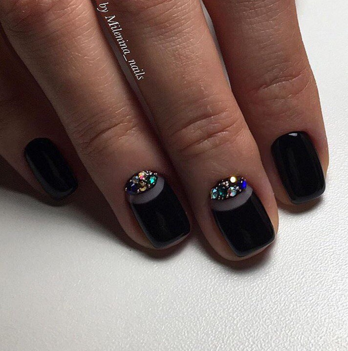 Black moon nails