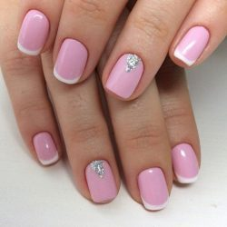 Spring french nails 2017 photo