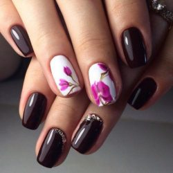 Beautiful dark nails photo