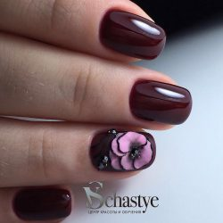 Nails for autumn dress photo