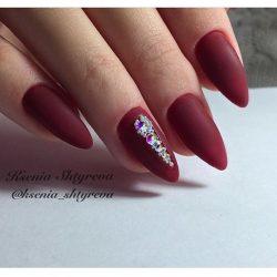 Burgundy nails ideas photo