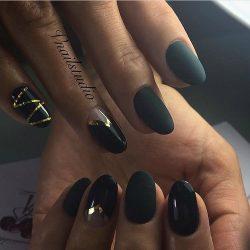 Dark shades nails photo
