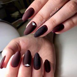 Beautiful evening nails photo
