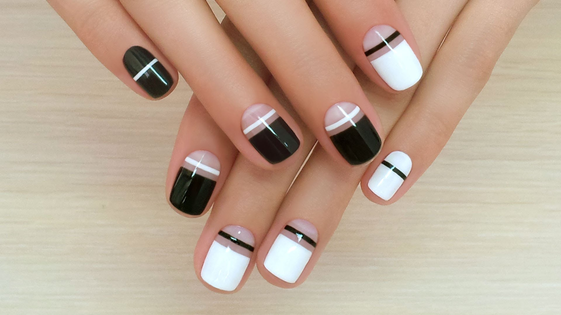 Black dress nails - Nails By Black And White Dress Photo