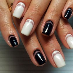 Reverse French nail design photo