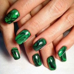 Nails by green dress photo