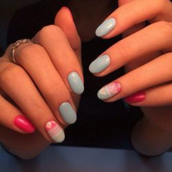 Ideas of blue nails photo