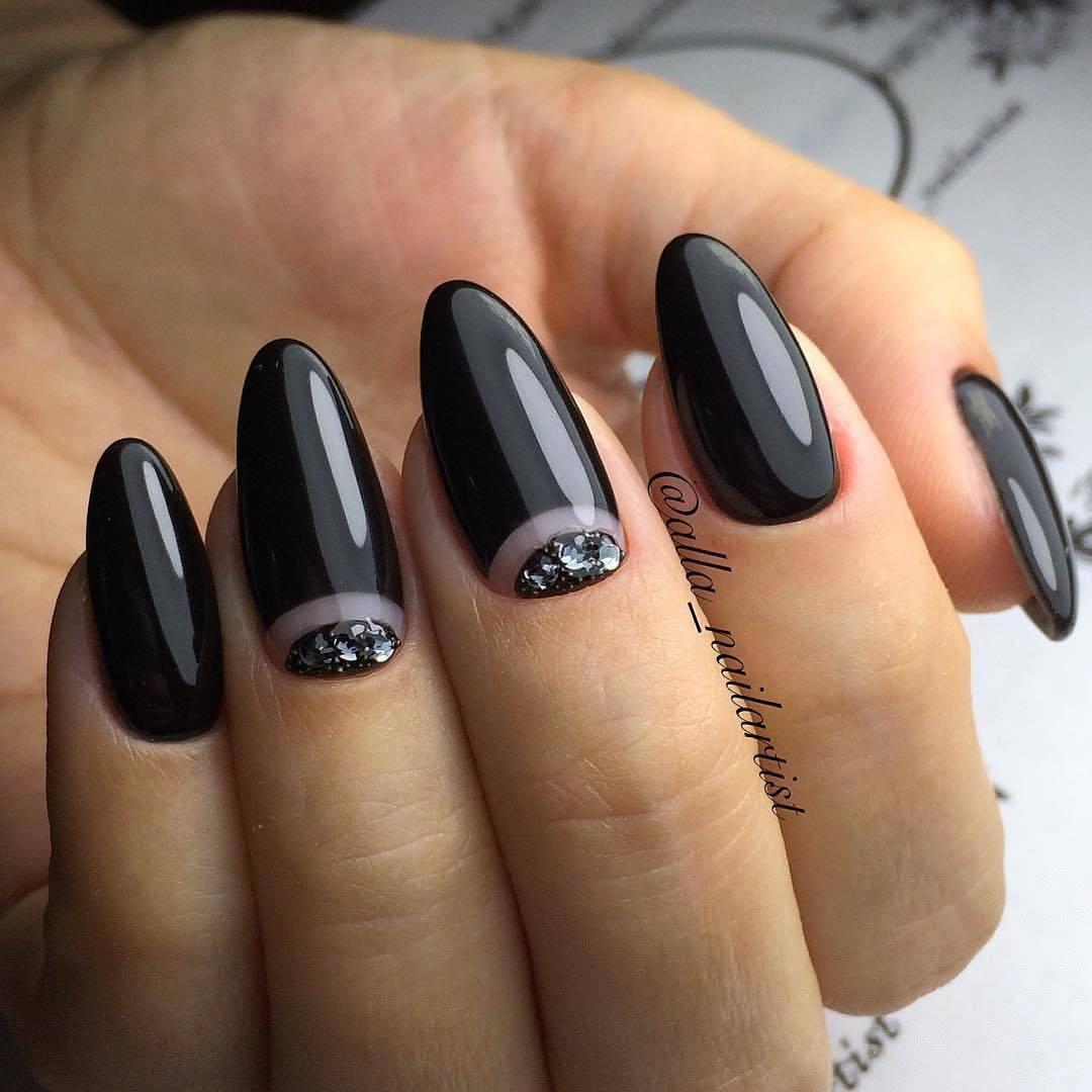 Black dress nails - Black Dress Nails Photo