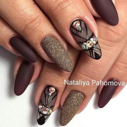 Autumn nails photo