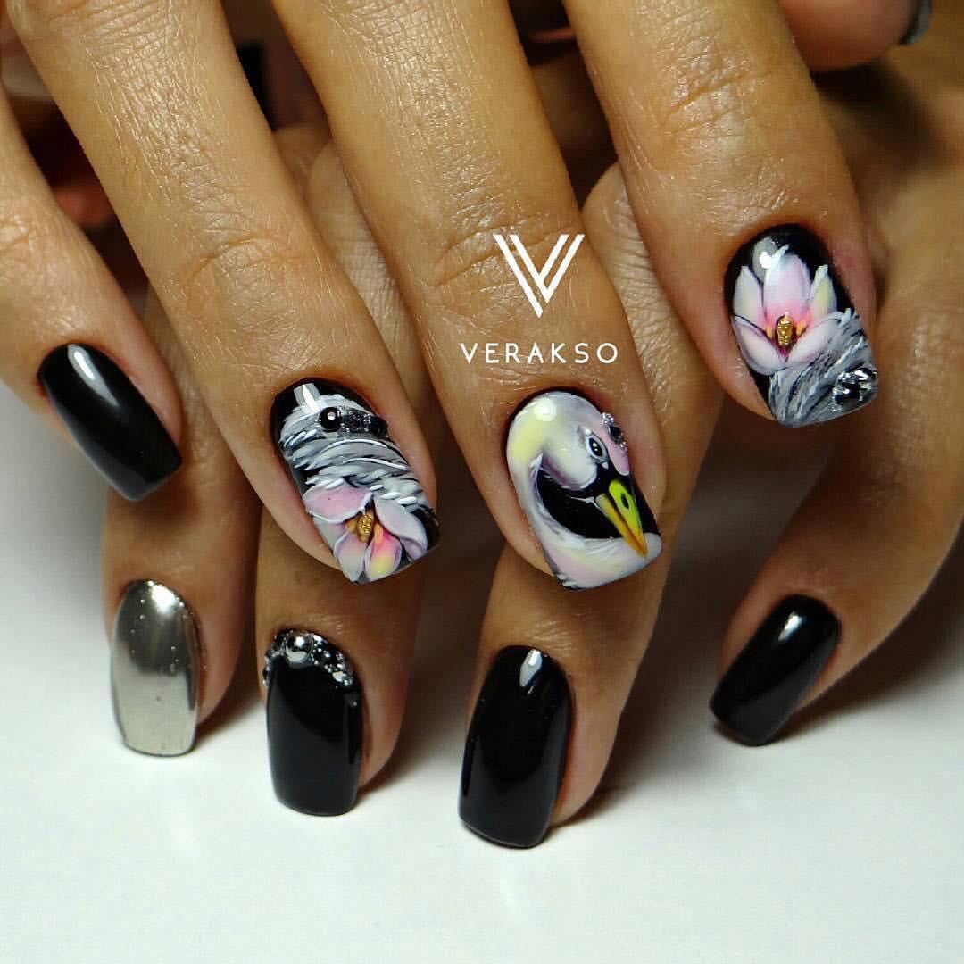 Bird nail art - Nail Art #2921 - Best Nail Art Designs Gallery BestArtNails.com