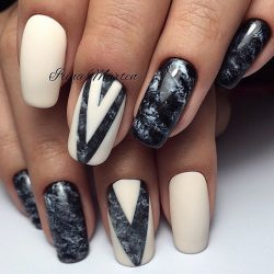 Geometric nails ideas photo