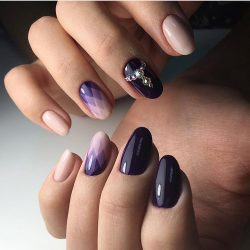 Color transition nails photo
