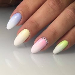 Summer gradient nails photo