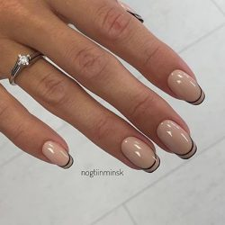 Beige gel polish photo