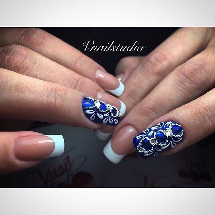 Bright holiday nails