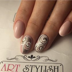 Beautiful evening nails photo