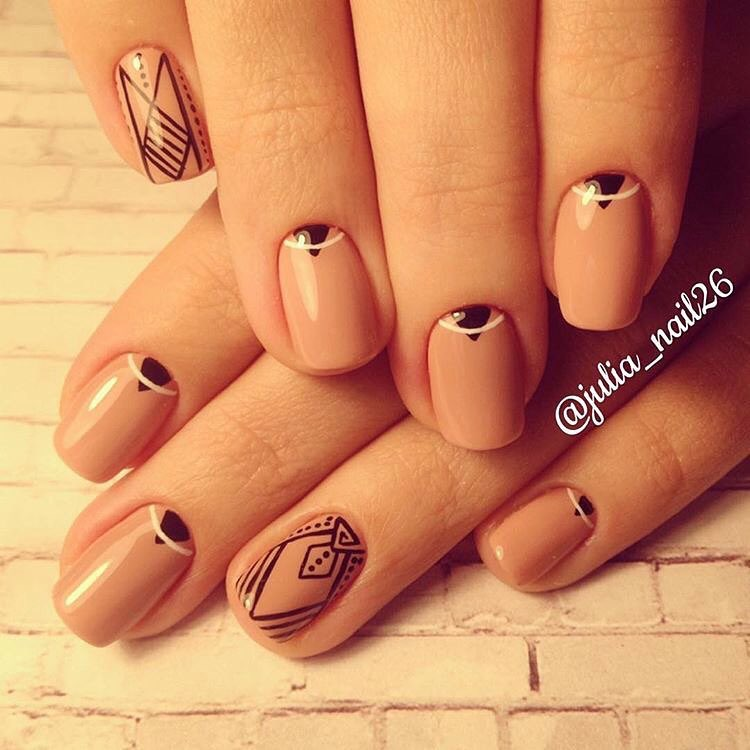 Ideas of beige nails