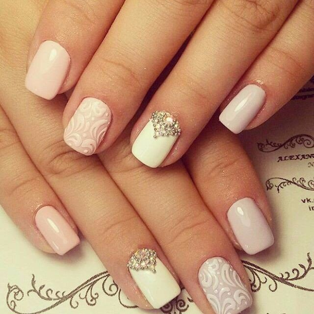 White rhinestone nail art the best images bestartnails white rhinestone nail art photo prinsesfo Gallery