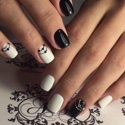 Nail designs with pattern photo