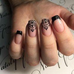 Long french manicure photo