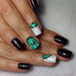 Beautiful black nails photo