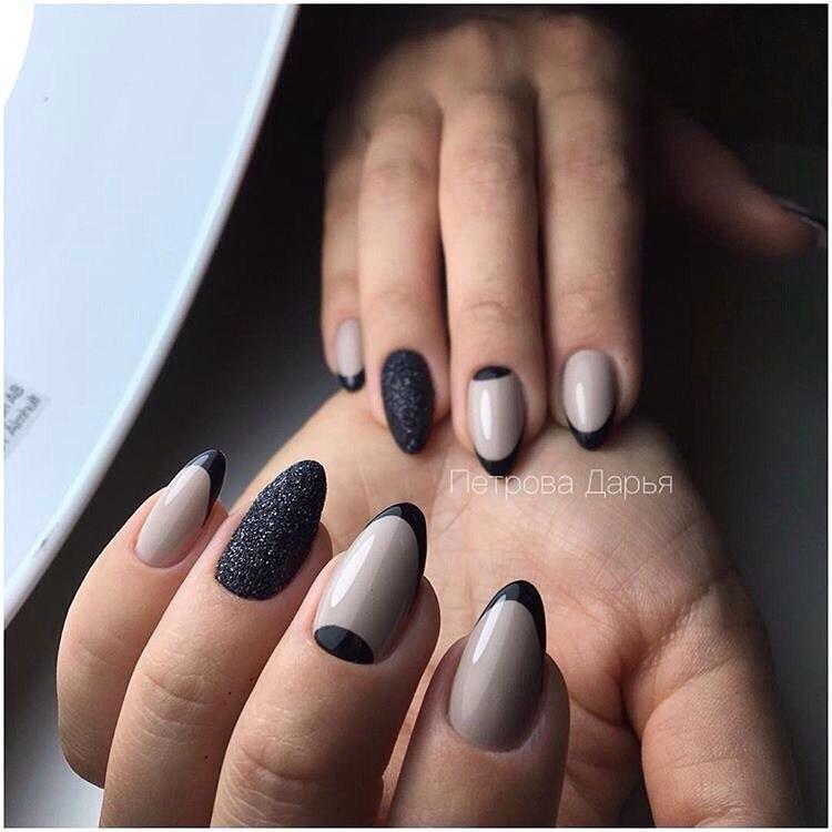 Beige and black nail designs - The Best Images | BestArtNails.com