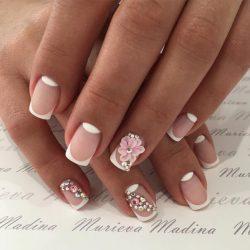White French nails photo