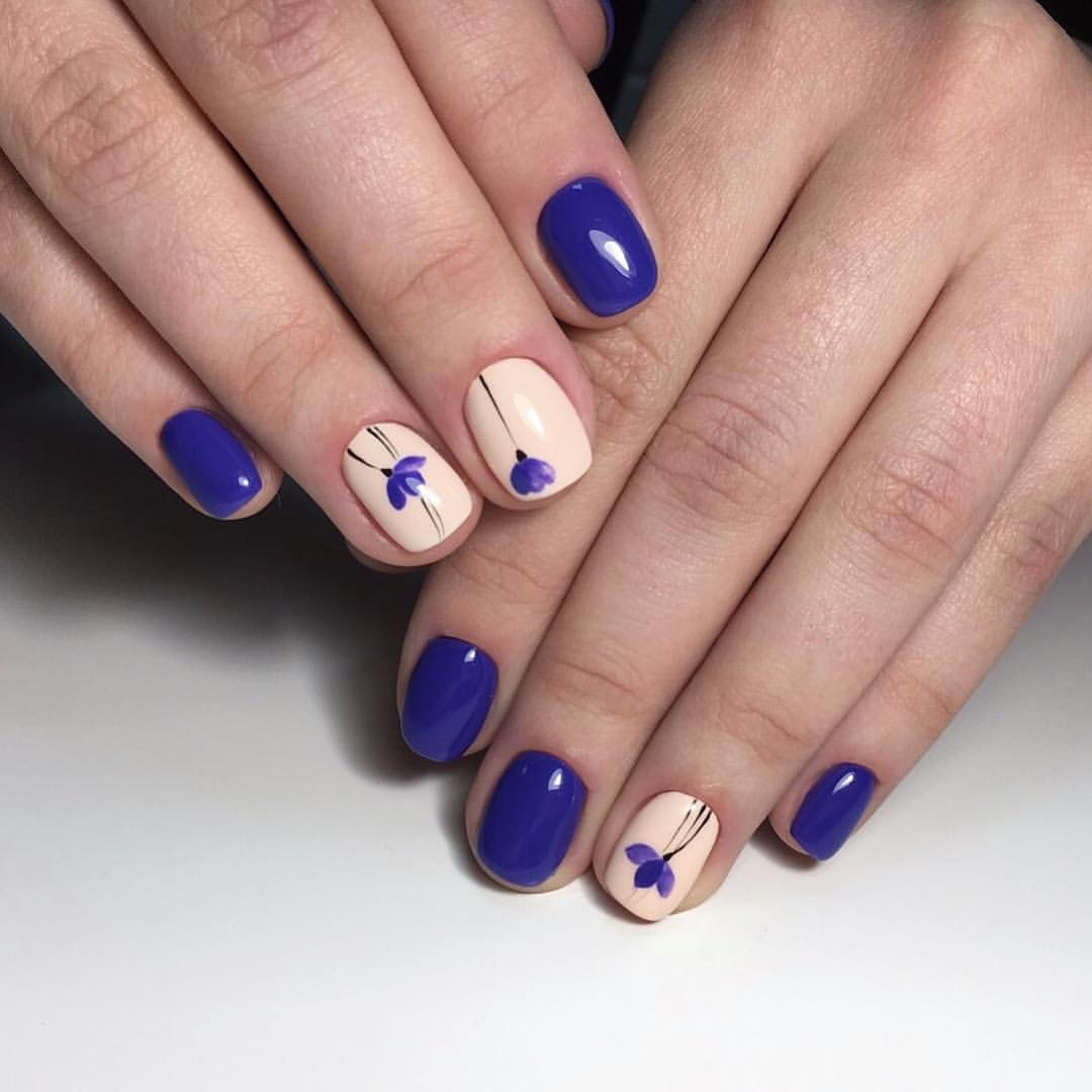 Nail art 2847 best nail art designs gallery bestartnails blue and beige nails prinsesfo Choice Image