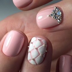 Ideas of beige nails photo
