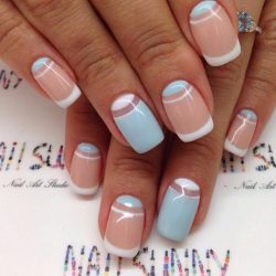 Winter french nails 2016 photo