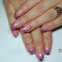 Shiny french nails photo