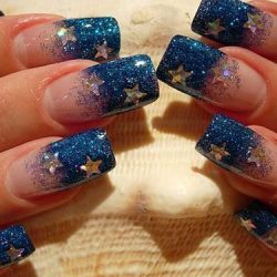 New year french nails 2017 photo