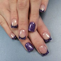 Square french nails photo