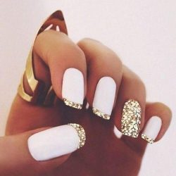 Bright french manicure 2017 photo