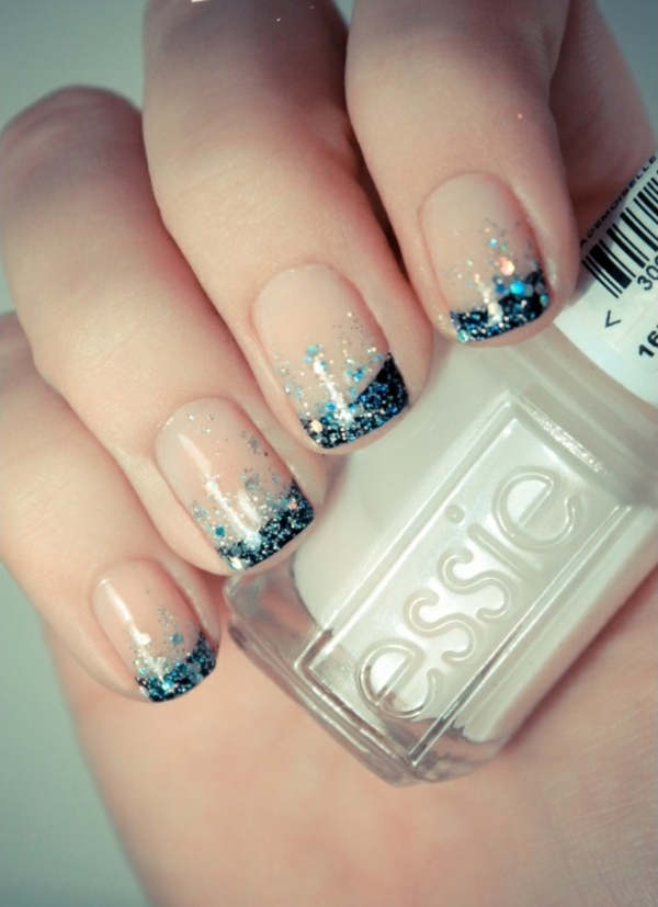 New year french nails 2017 - The Best Images | BestArtNails.com