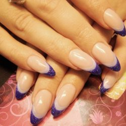 Purple french nails photo