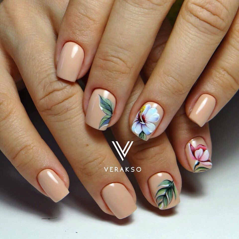 Spring nails with flowers - Nail Art #3059 - Best Nail Art Designs Gallery BestArtNails.com